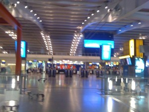 Empty T5 Heathrow